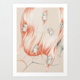 Hair bears Art Print