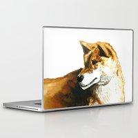 shiba Laptop & iPad Skins featuring Shiba Inu by Naomi Bardoff