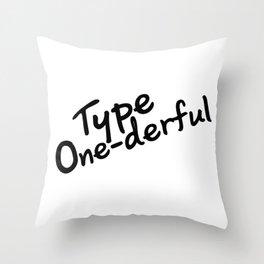 T1D Diabetic Diabetes Gifts Throw Pillow