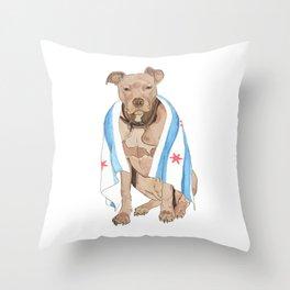 Chicago Dog Artwork & Home Decor Throw Pillow