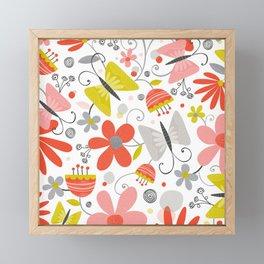 Busy Butterflies Framed Mini Art Print