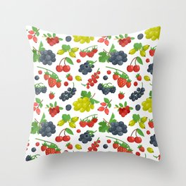 Colorful Berries Pattern Throw Pillow