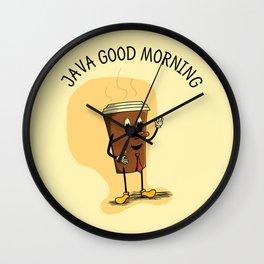 Java Good Morning - Coffee (Earth 1084) Wall Clock