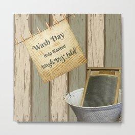 Wash Day Metal Print