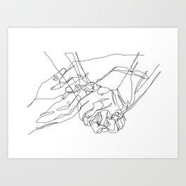 Caress & Crush Art Print