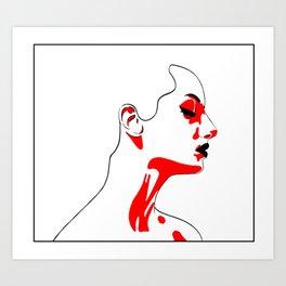 red shadows Art Print