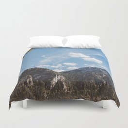 Mountains in the background XXIV Duvet Cover