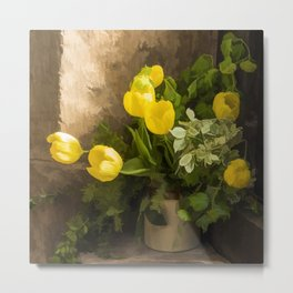 Tulips in the Porch Metal Print