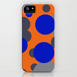 Bubbles blue grey orange design iPhone Case