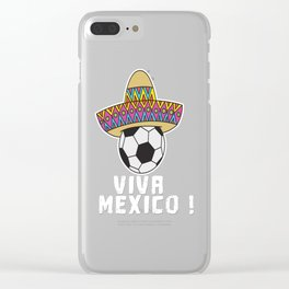 Mexico Mexican Football World cup Soccer Championship world champion ball Clear iPhone Case