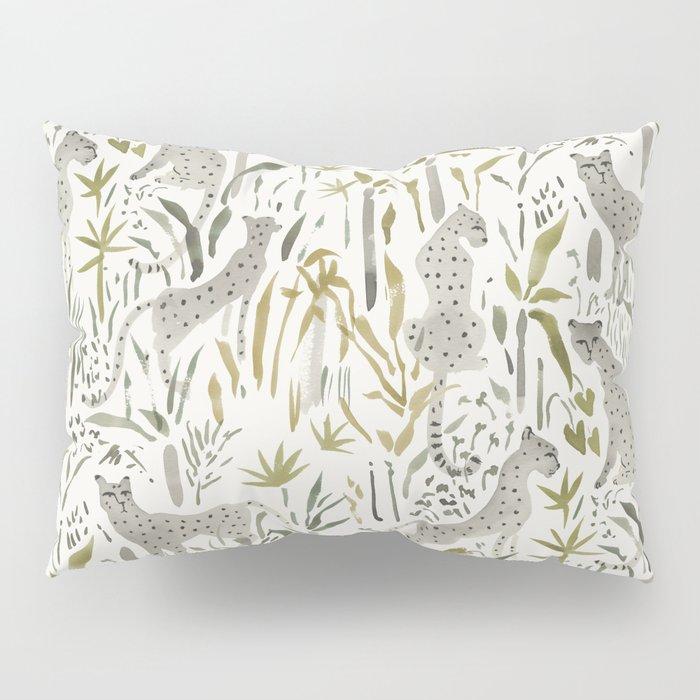 Grey Cheetahs Pillow Sham