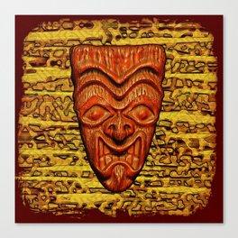 Shield Face Tiki Canvas Print