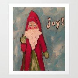 Santa full of Joy Art Print