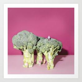 Broccoli forest Art Print