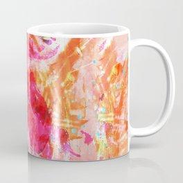 Paint Splatter Turquoise Orange And Pink Coffee Mug