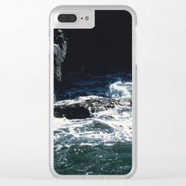 Dark Oceanic Cliff Clear iPhone Case