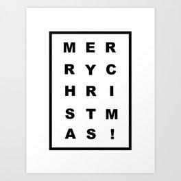 Merry Chritmas Art Print