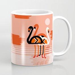 Posse - flamingo throwback nostalgia retro neon art print hipster trendy style minimal abstract geo Coffee Mug