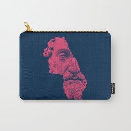 MARCUS AURELIUS ANTONINUS AUGUSTUS / prussian blue / vivid red Carry-All Pouch