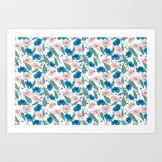 Botanical White Art Print