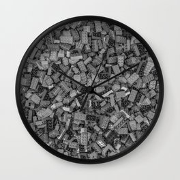 Master builder B&W Wall Clock