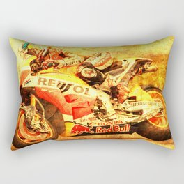 Le Mans 2015 motorcycle race repsol bike Rectangular Pillow