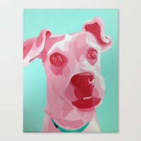 jack russell Canvas Prints featuring Jack Russell by Caroline Ward