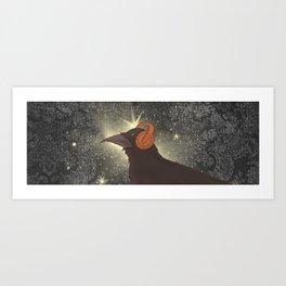 Rad Crow Art Print