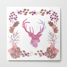 Watercolors In The Wilderness Metal Print