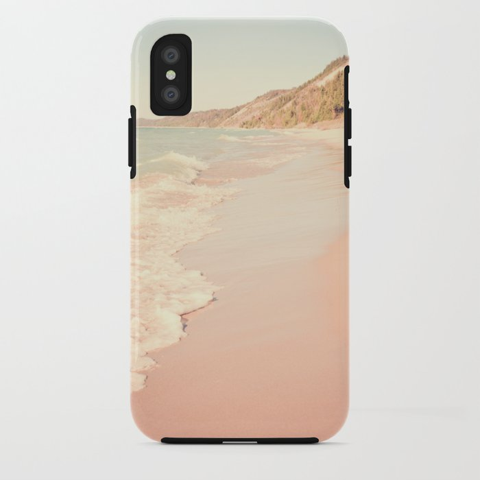 Her Mind Wandered Back and Forth With the Waves iPhone Case
