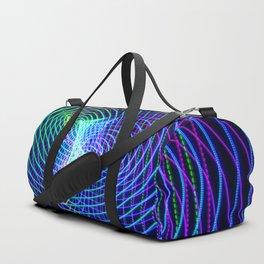 Rainbow Heart Vortex Light Painting Duffle Bag
