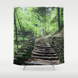 Stairway To Spring - Letchworth Shower Curtain