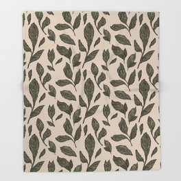 Leaf Pattern Throw Blanket