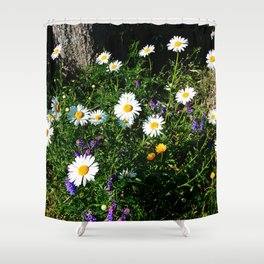 Wildflowers by the River Shower Curtain