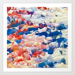 Fragmented bubbles Art Print