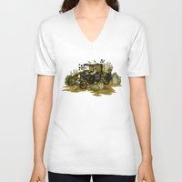 home sweet home V-neck T-shirts featuring Home Sweet Home by Teagan White