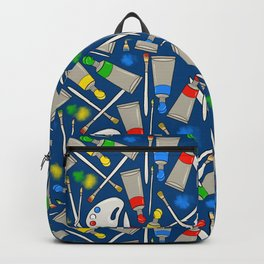 Time to Paint (blue) Backpack