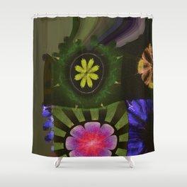 Brinish Symmetry Flowers  ID:16165-053020-45980 Shower Curtain