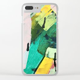 Hopeful[4] - a bright mixed media abstract piece Clear iPhone Case