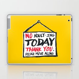 No Thank You Laptop & iPad Skin