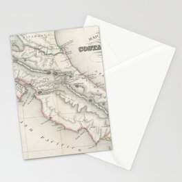 Vintage Map of Costa Rica (1851) Stationery Cards