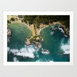 Parque Tayrona from Above Art Print