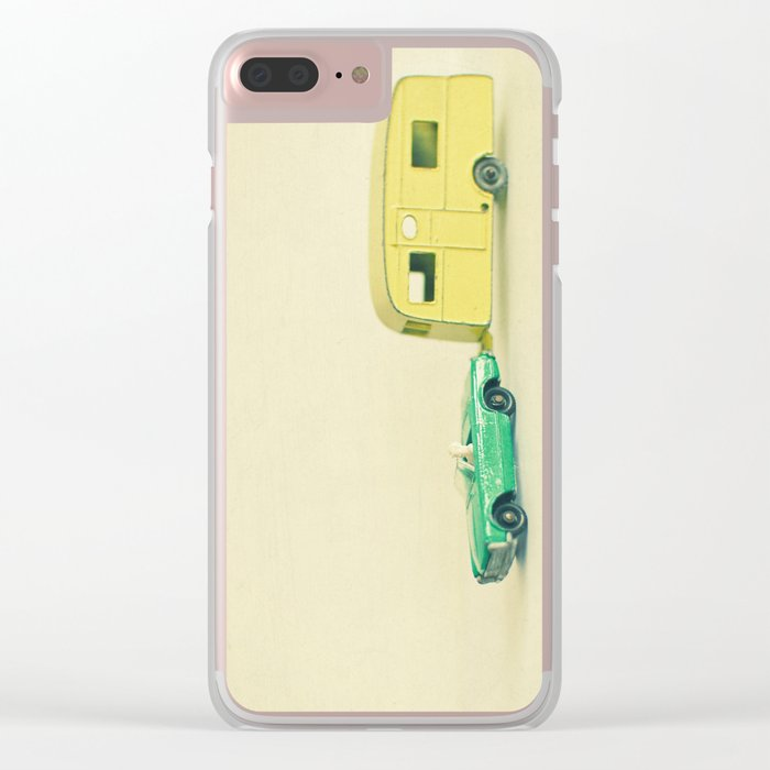 Summer Holiday Clear iPhone Case