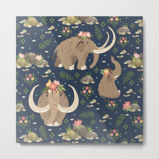 Cute mammoths Metal Print