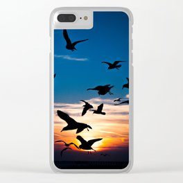 Dramatic Sunset Clear iPhone Case