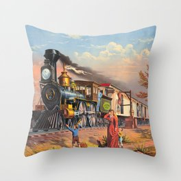 The Fast Mail,  1875 Throw Pillow