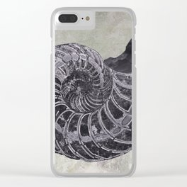 Ammonite study Clear iPhone Case