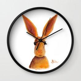 Happy Hare / Rabbit ' GOLDEN JELLY BEAN ' by Shirley MacArthur Wall Clock