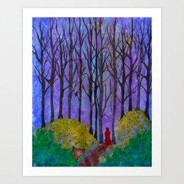 Night Stroll Art Print