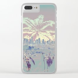 Palm Trees over L.A. Clear iPhone Case